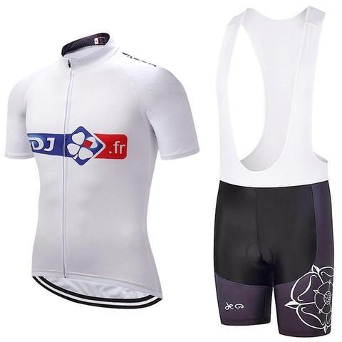 FDJ fr Short Sleeve Jersey Set  3cd39af46