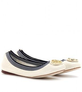 be99ee08c29a5 Tory Burch CAROLINE 2 CRINKLED PATENT LEATHER BALLERINAS - ShopStyle Flats