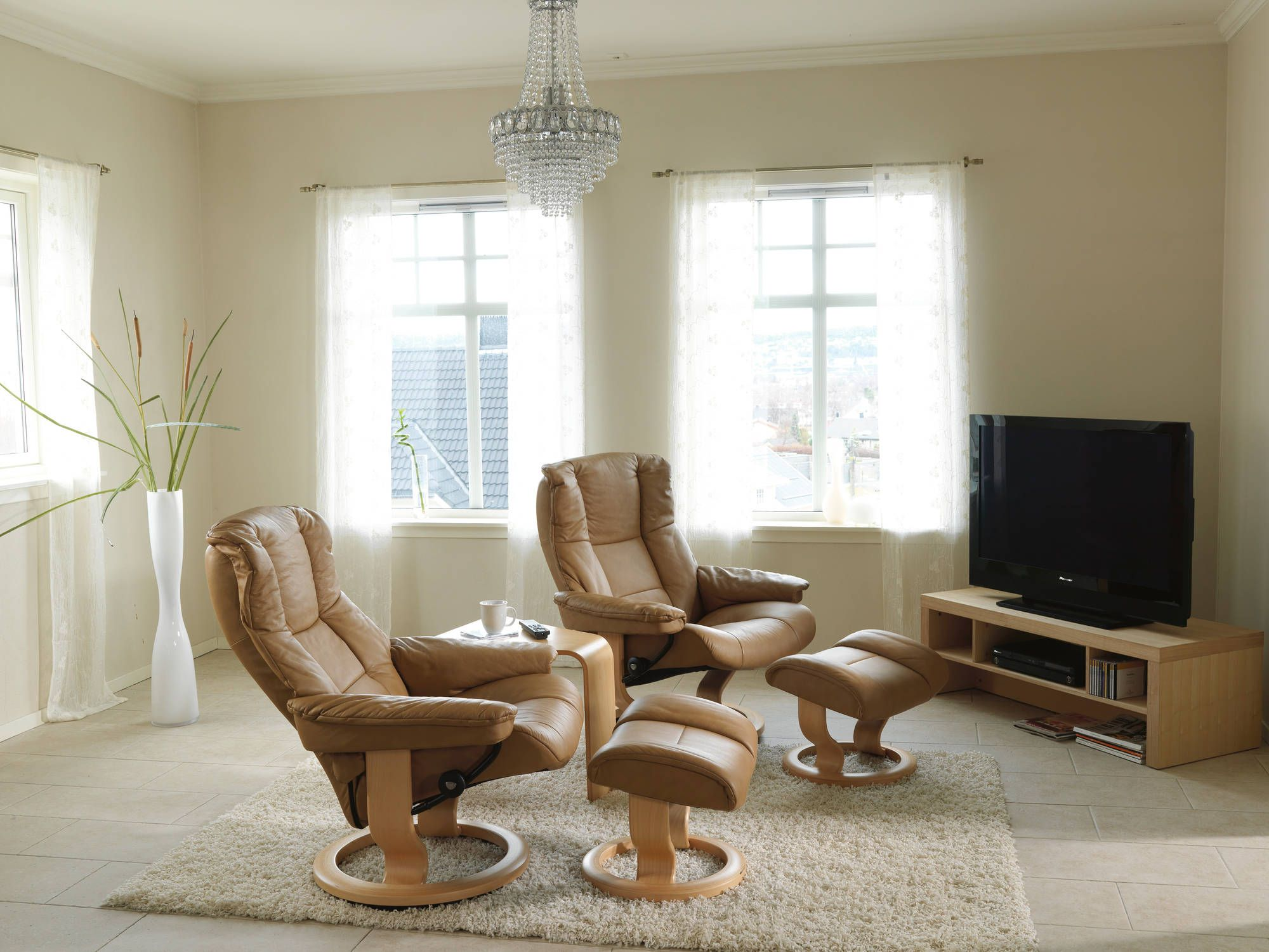 Small Sectional Sofa Stressless Recliners Mayfair Recliner Ottoman Paloma Sand u Walnut by Stressless by Ekornes at Rotmans
