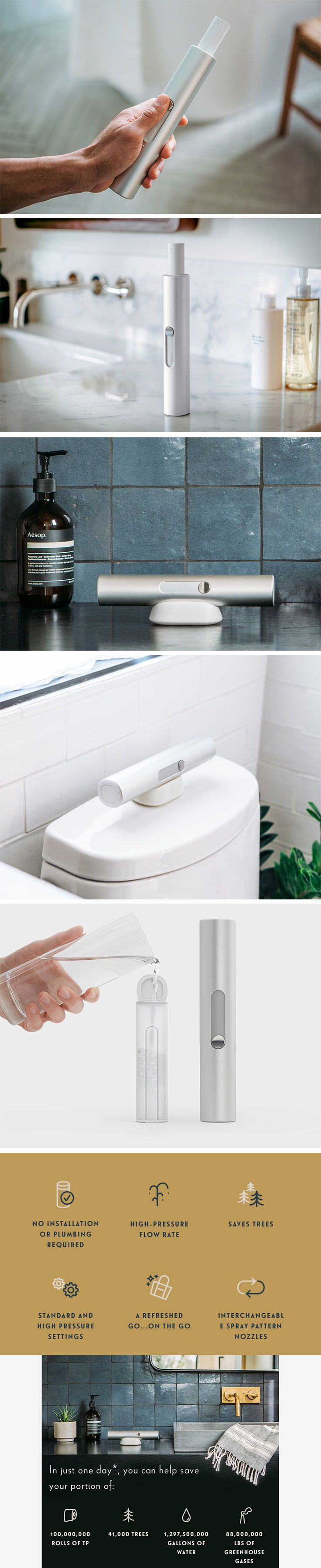 This Portable bidet is healthy for your behind and the