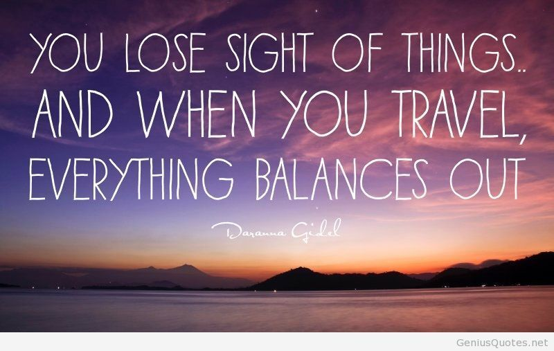 Everything balances out