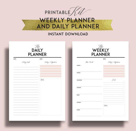 printable bullet journal weekly planner 2017 daily planner