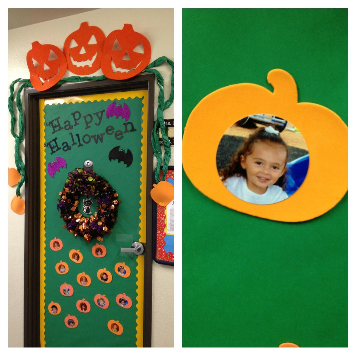 Halloween classroom door decoration #halloweenclassroomdoor
