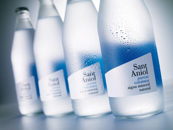 Sant Aniol Premium Water Bottle Label Design Water Bottle Design