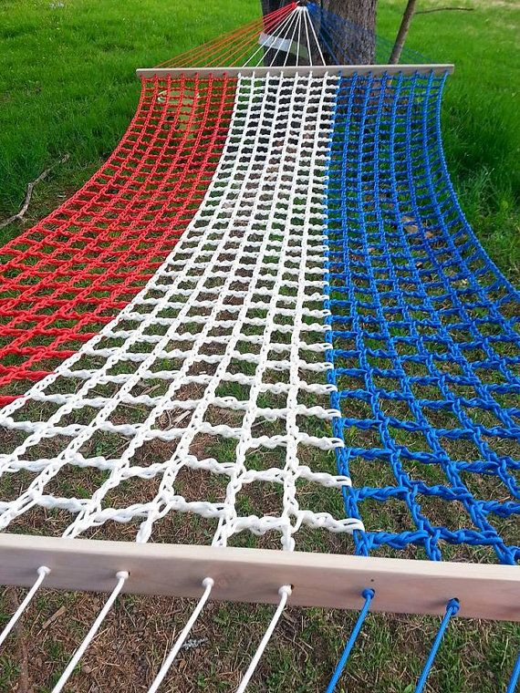 Red White Blue American Flag Paracord Hammock Arts And Crafts