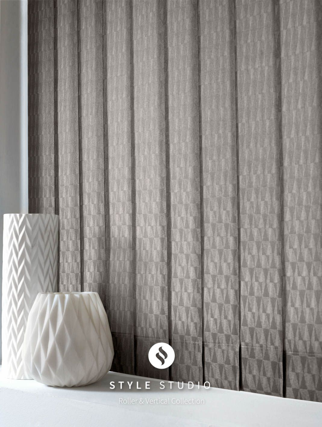 Vertical Blind by Eclipse Vector Concrete Fabric Upholstery