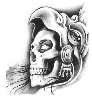 Aztec Warrior Guerrero Aguila Tattoo Design Aztec Pinte