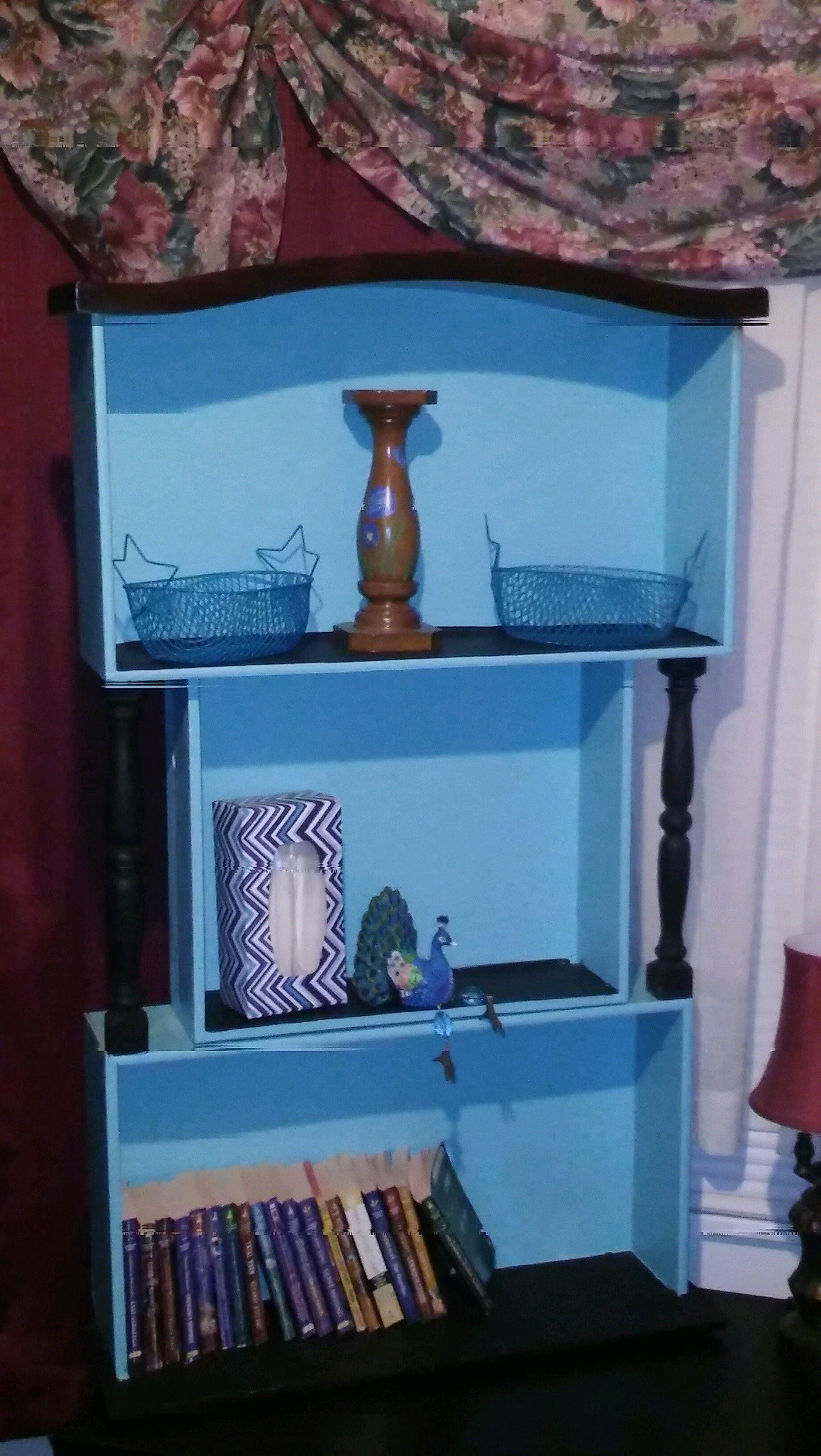 3 drawer stacked with 2 spindles to form a novelty bookcase this rh pinterest com