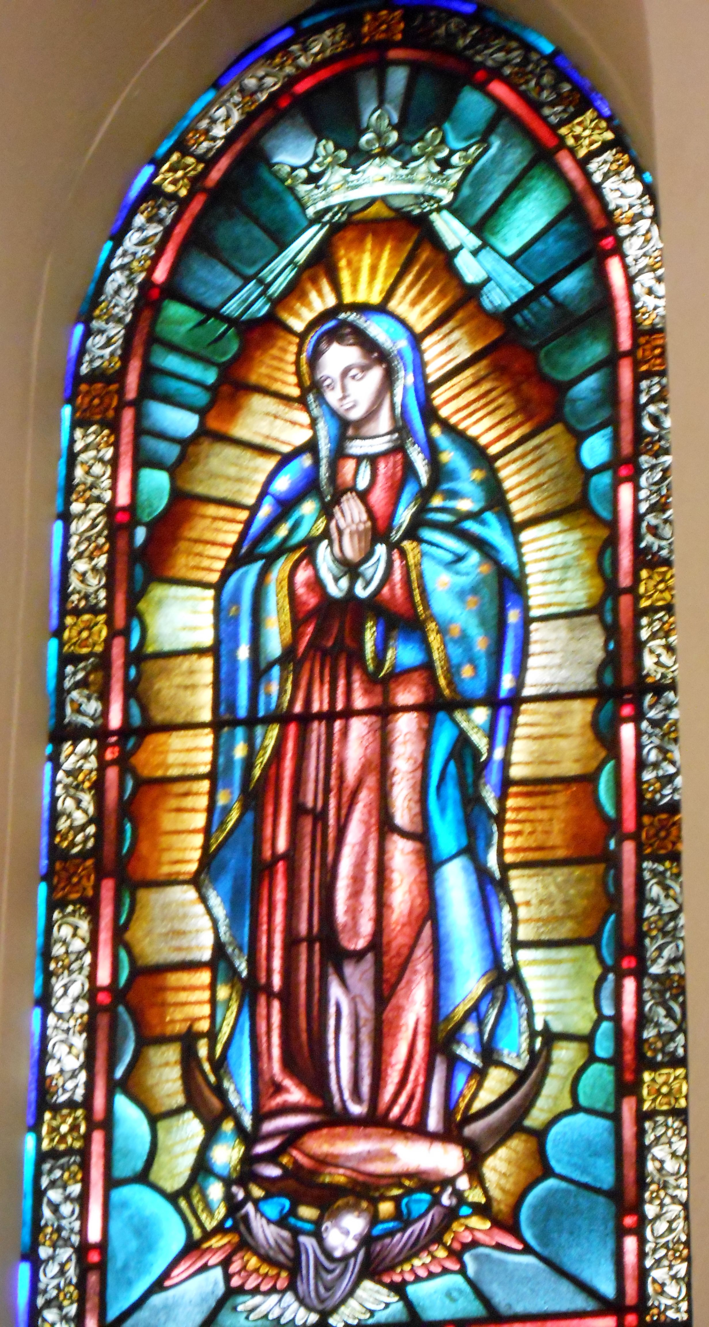Stained Glass At The St Francis Cathedral In Santa Fe