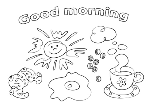 Good Morning Coloring Pages In 2020 Coloring Pages Good Morning Free Kindergarten Worksheets