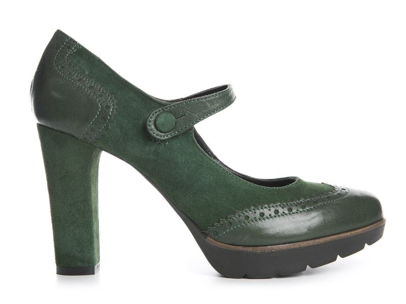 Pump in green suede and leather - Andrea Morelli