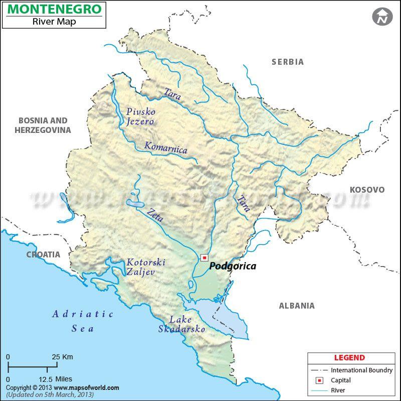 Montenegro River Map Map Montenegro Map Montenegro