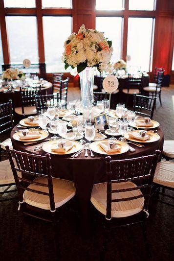 fall wedding chocolate brown peach green gold wedding events rh pinterest com