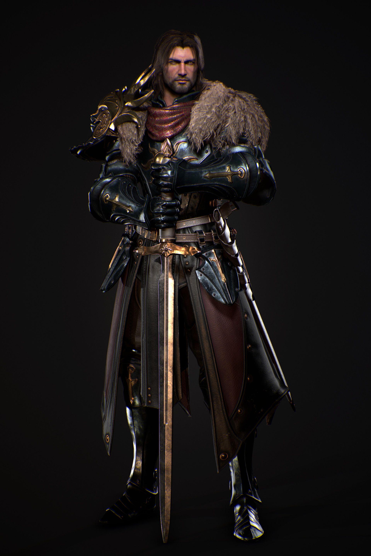 m Fighter hilvl Plate Armor Greatsword Underdark ArtStation - Knight, gyu bin yun (499 ...