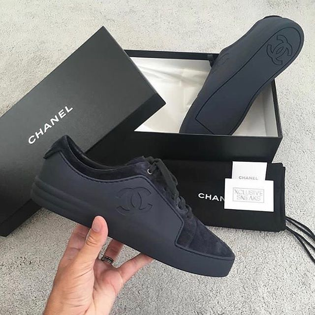 All black Chanel sneaker Cop or drop