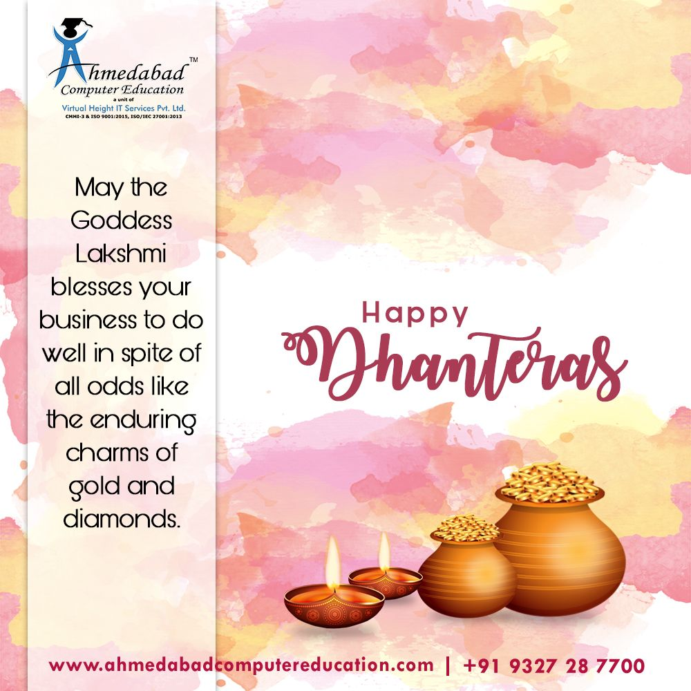 Wish You Happy Dhanteras | Diwali Festival 2019 #dhanteraswishes