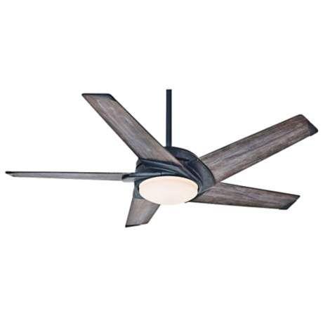 54 casablanca stealth industrial rust led ceiling fan 5m256 rh pinterest com