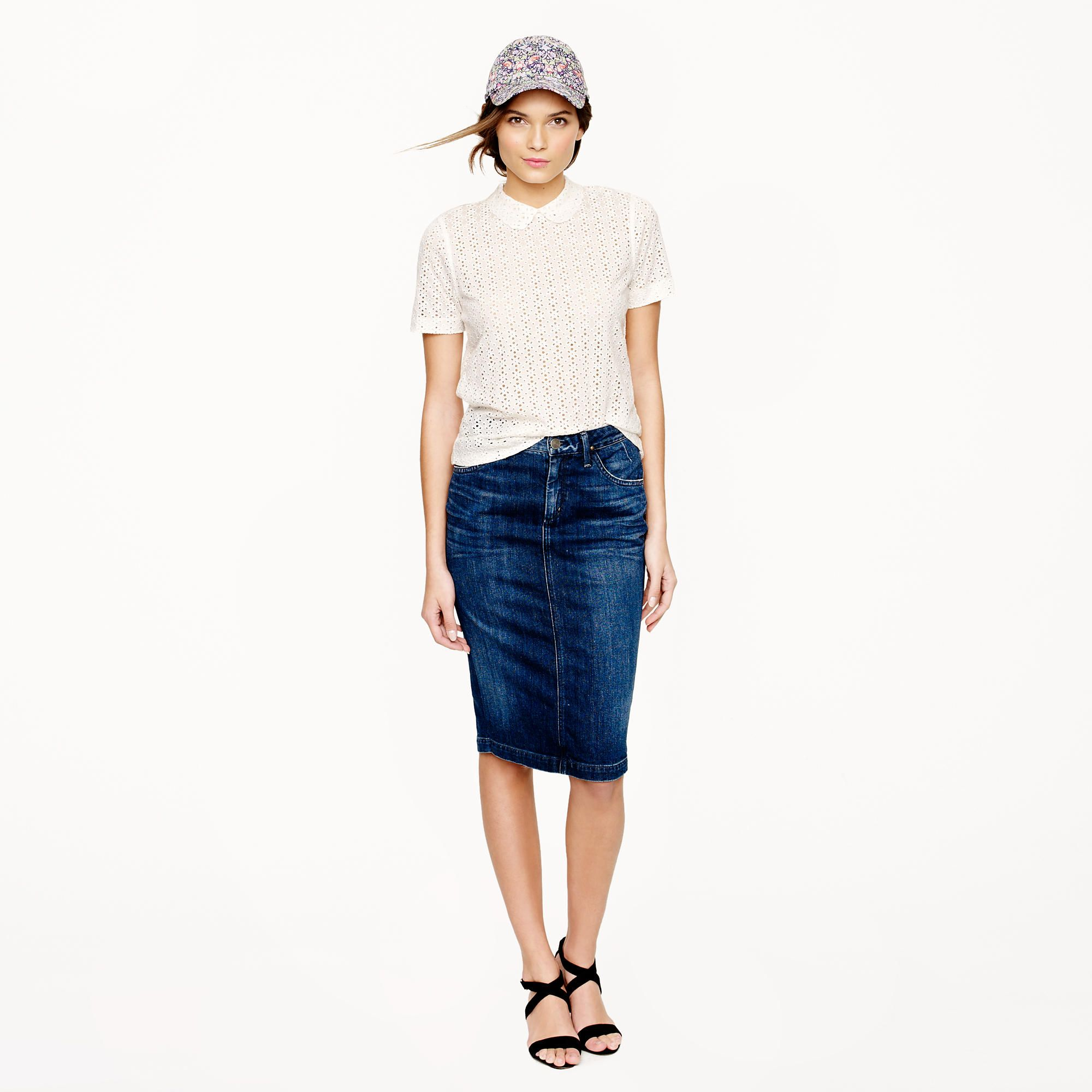 7dfc5925b2 Goldsign® for J.Crew Holly skirt in martel wash : pencil | J.Crew ...