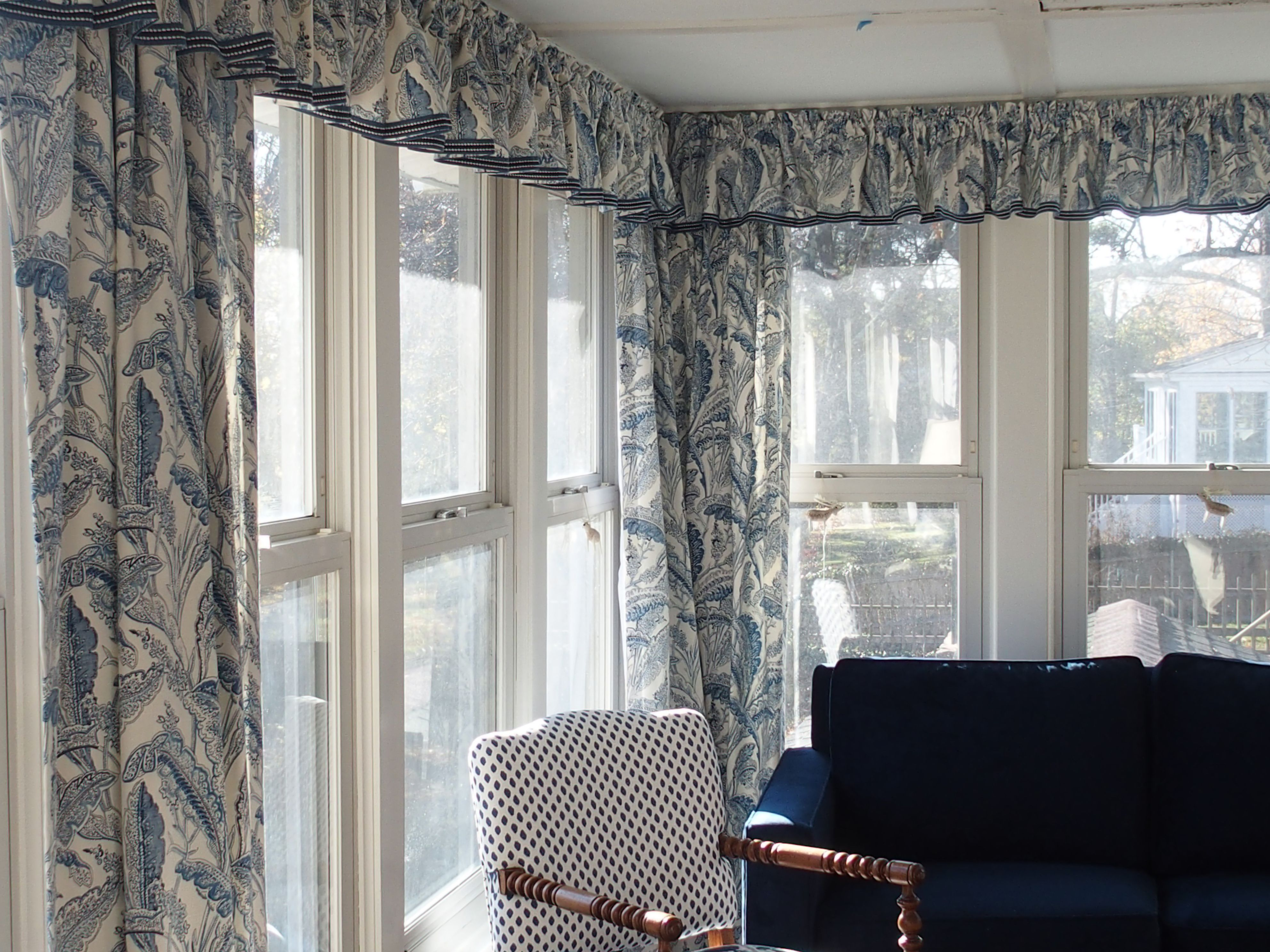 living room window valance ideas%0A http   curtaincallct com  Rod pocket valances and draperies in a timeless