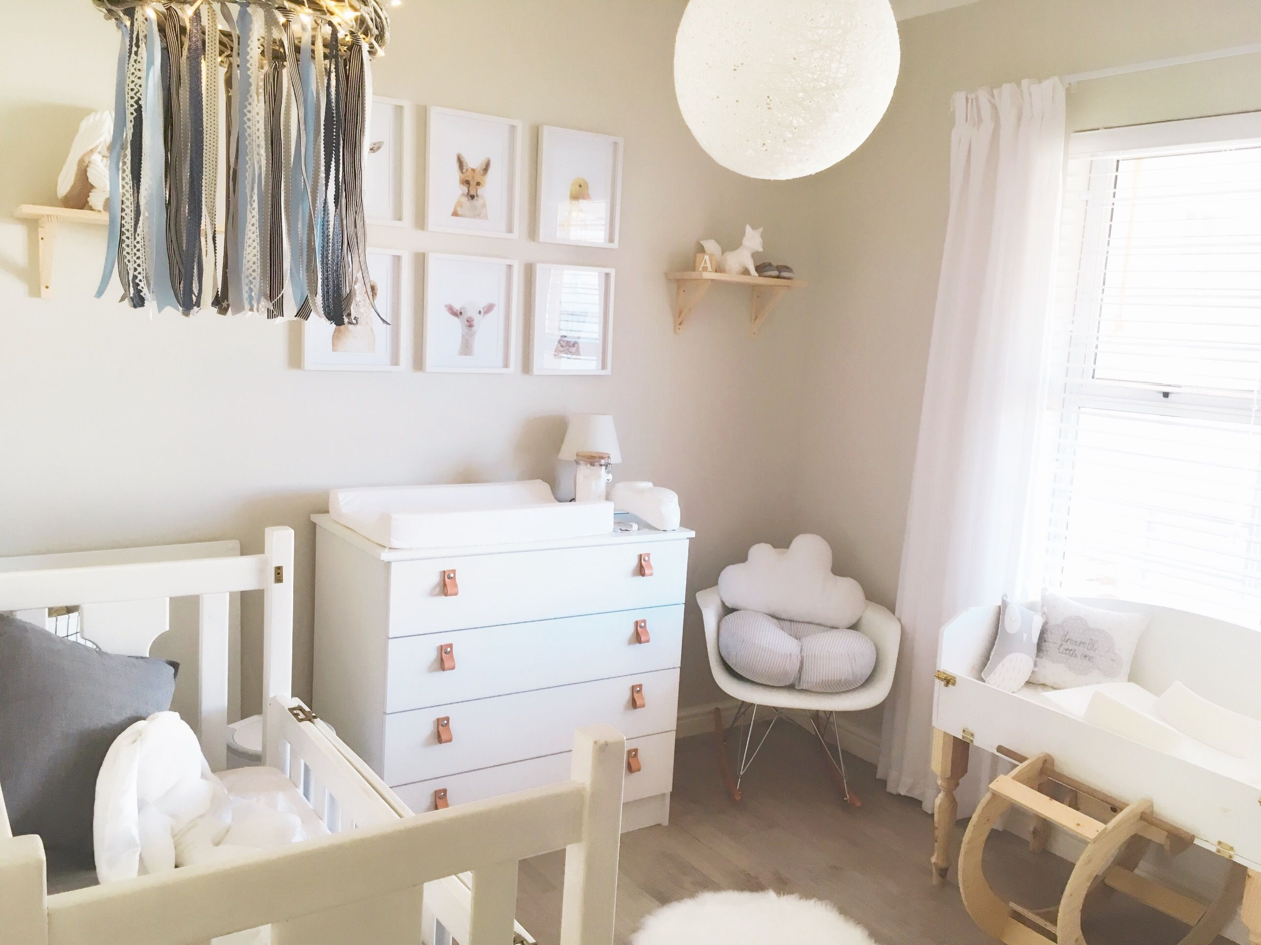 Baby Boy Nursery Room, Scandinavian Style