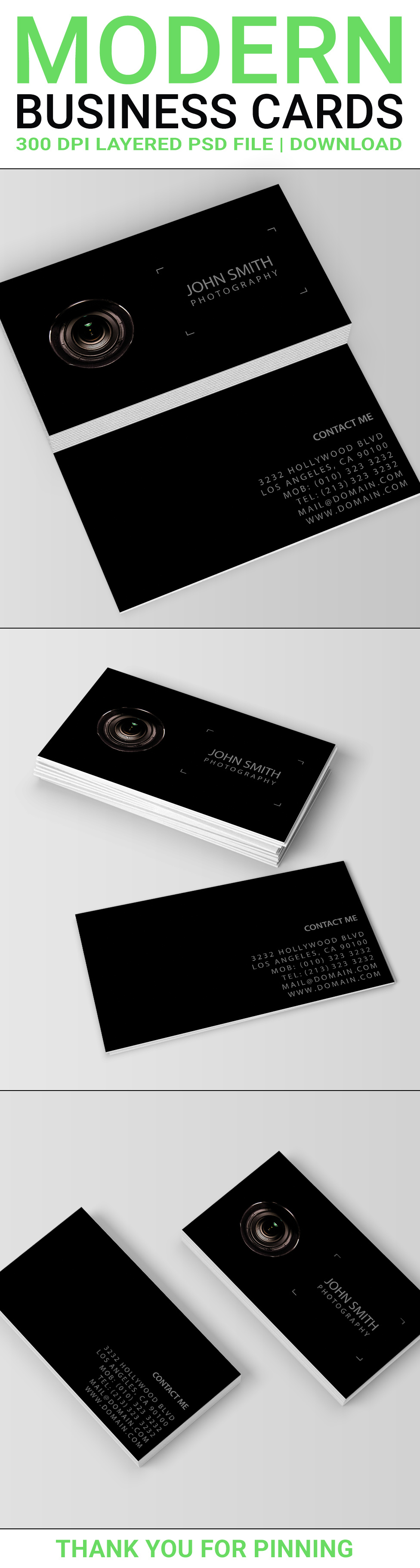 A two sided black business cards template for photographers the a two sided black business cards template for photographers the professional dark design shows a colourmoves