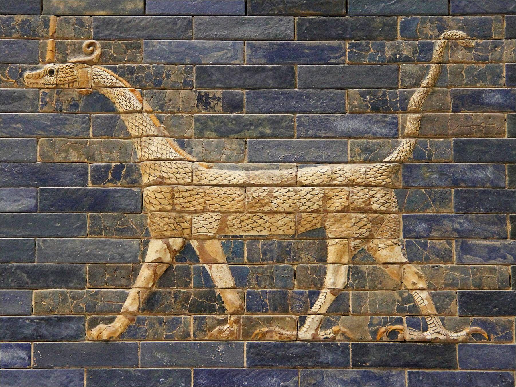 Snake-Dragon, symbol of Marduk, the Patron God of Babylon