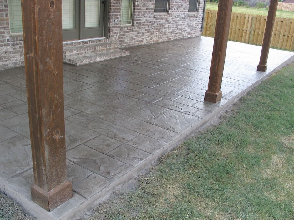 Awesome Covered Stamped Concrete Patio Design Inspiration 1015022 Patio