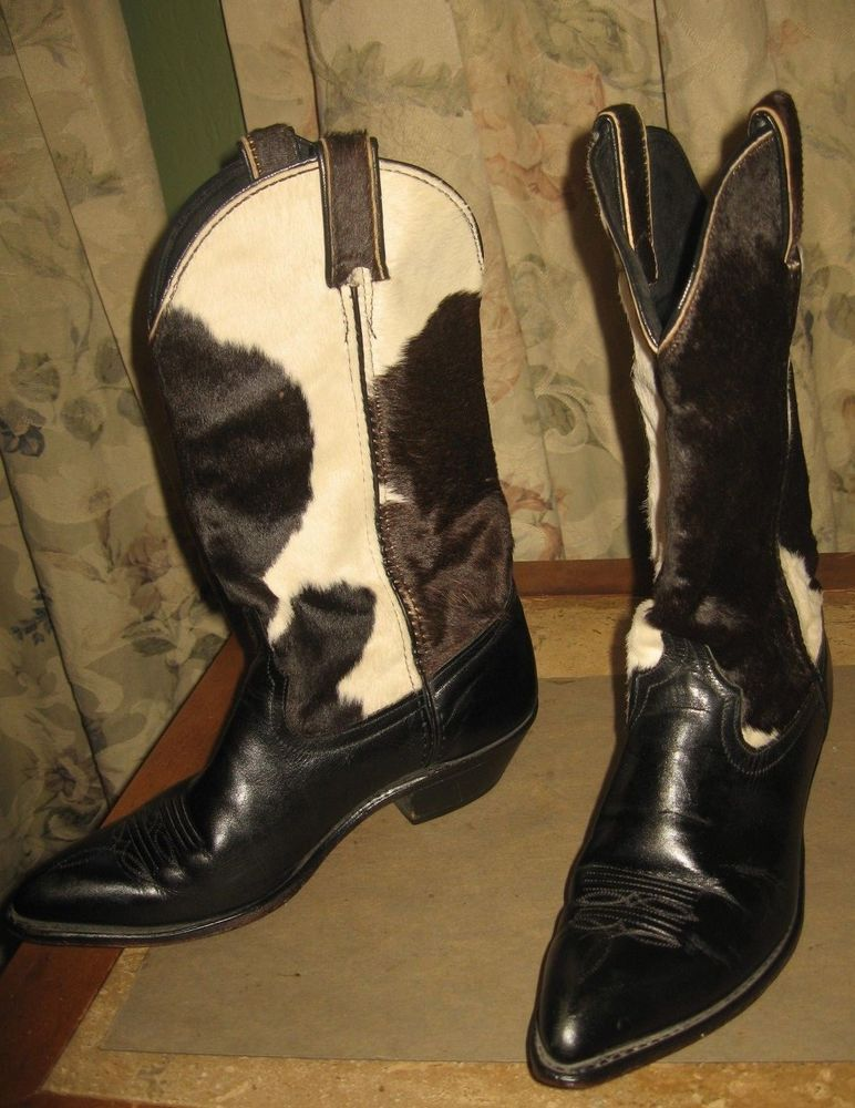 Liberty Boot Co.Handmade Tall Calfskin Cowgirl Western Boots 8 1//2