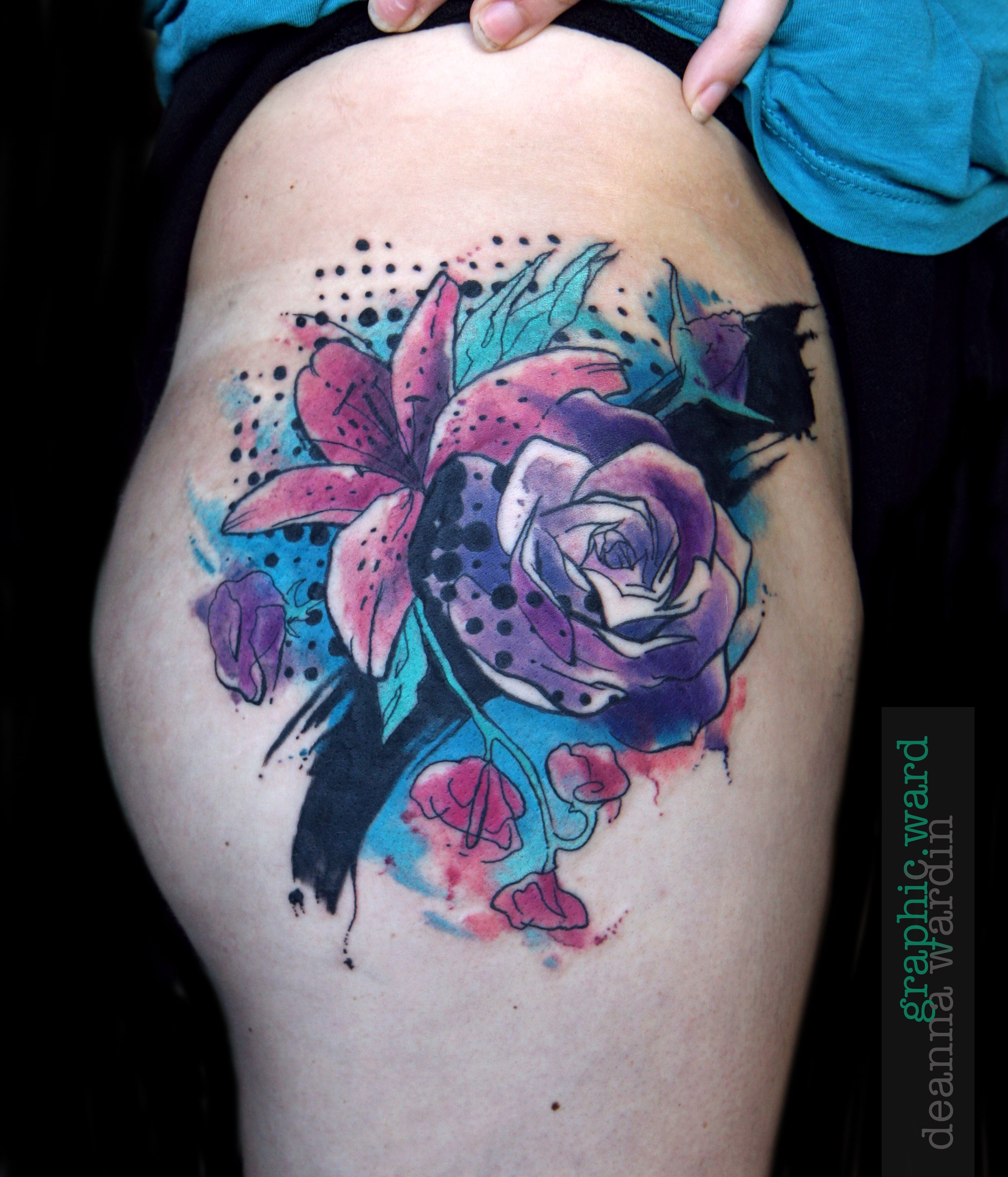 Watercolor Flower Tattoo Watercolor Tattoo Flower Flower Tattoo