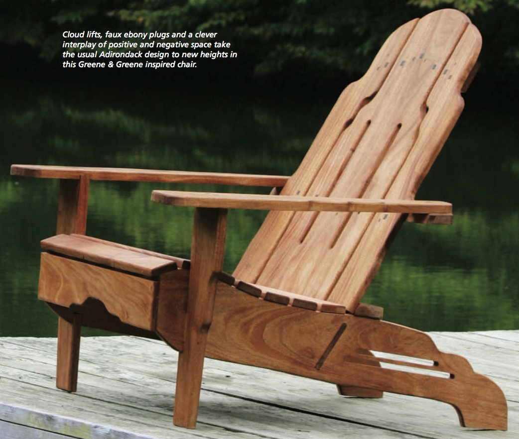 Plans For Adirondack Chairs Greene And Greene Style Adirondack Chair Free Plans From