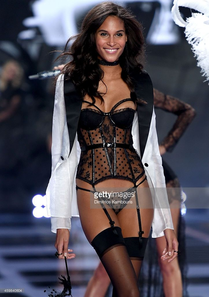 63884d219e Model Cindy Bruna walks the runway during the 2014 Victoria s Secret  Fashion Show at Earl s Court Exhibition Centre on December 2
