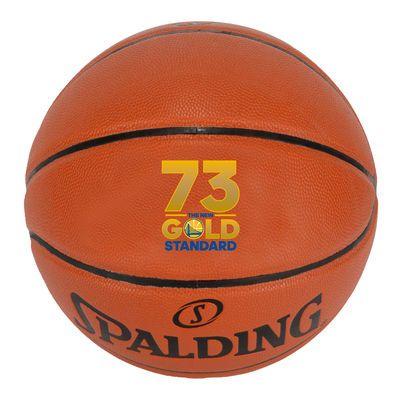 Golden State Warriors Fanatics Authentic Record Breaking Season Logo Indoor/Outdoor Basketball