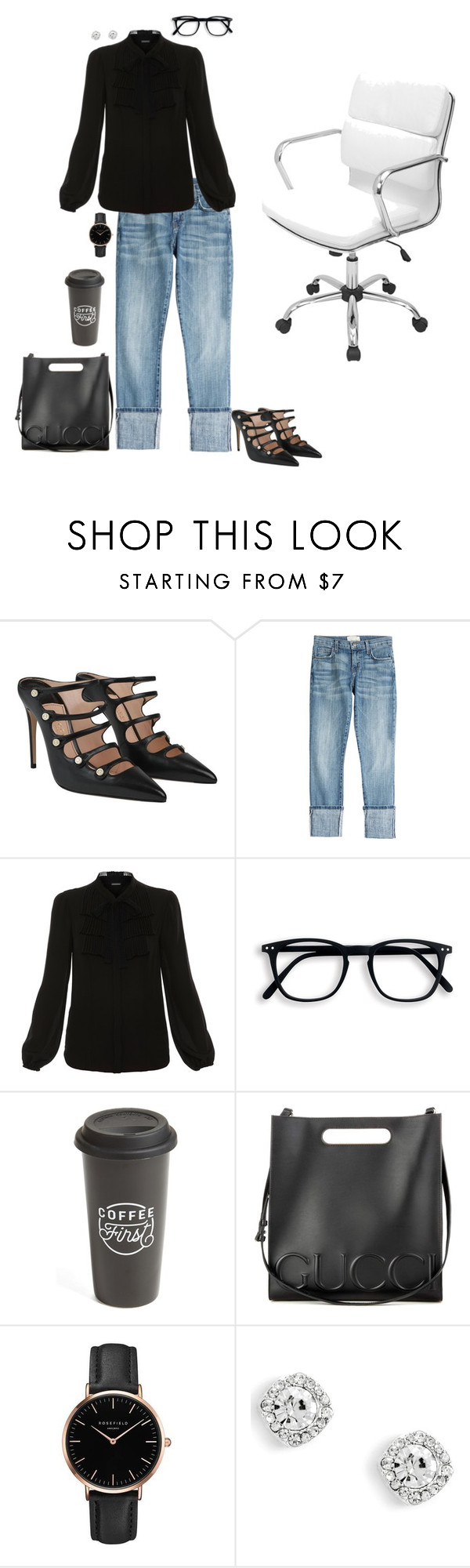 """another busy day"" by lila77 ❤ liked on Polyvore featuring Gucci, Current/Elliott, Elie Tahari, The Created Co., Topshop and LumiSource"