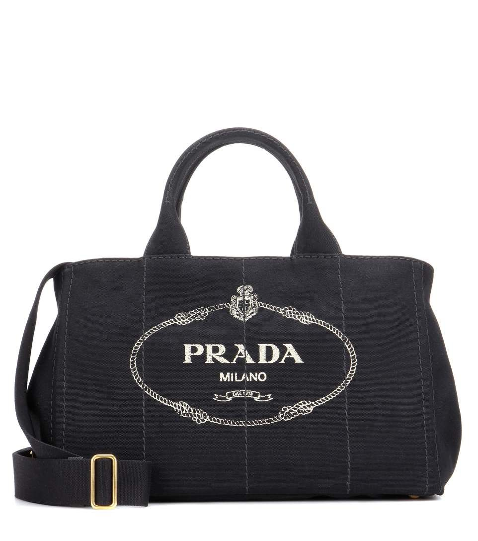 c495b765fb34 PRADA Jardinera Large Canvas Shopper Bag. #prada #bags #shoulder bags #hand  bags #canvas #leather #lining #