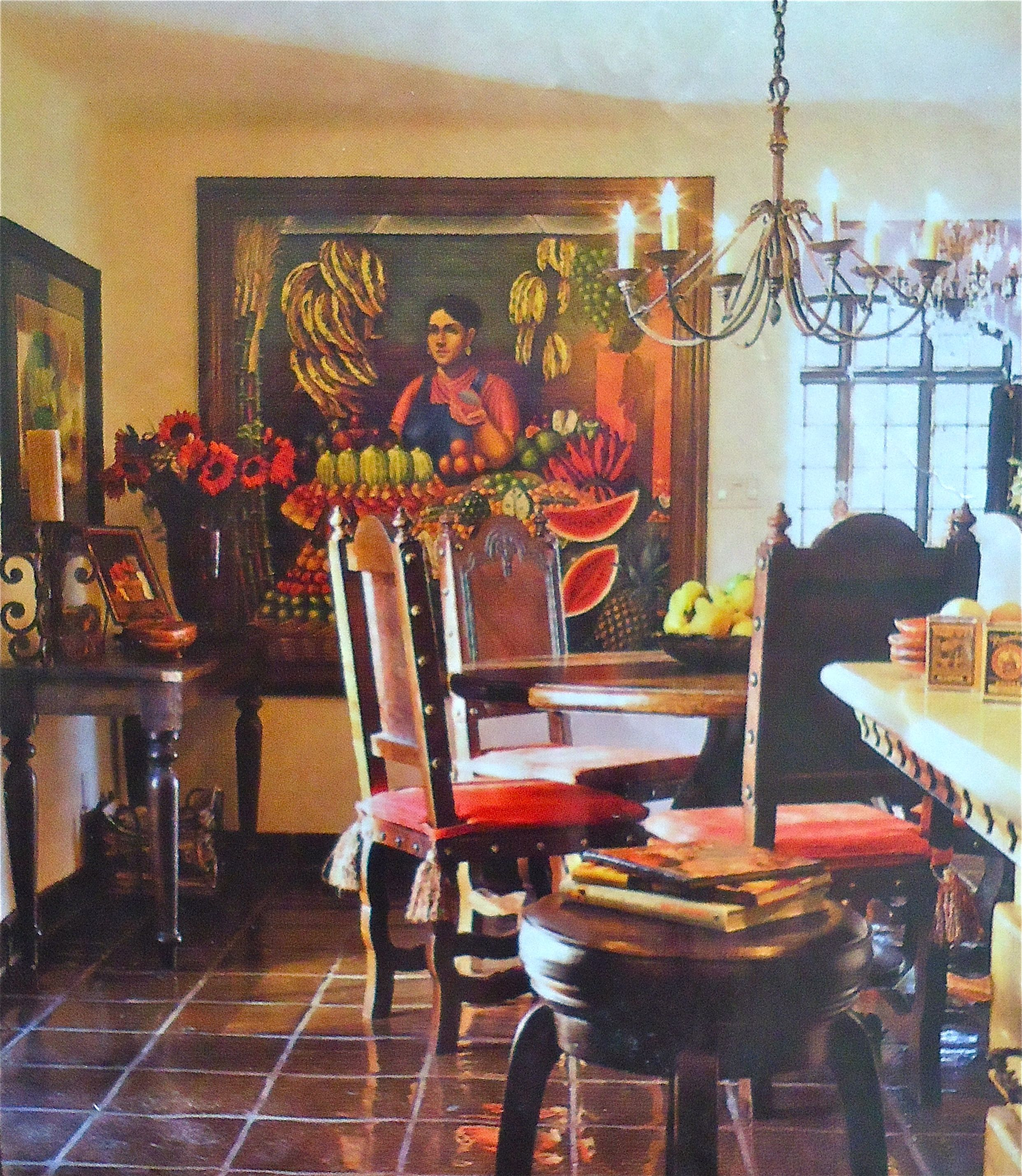 Mexican Country Style Painted Dining Table and Chairs >> This ...