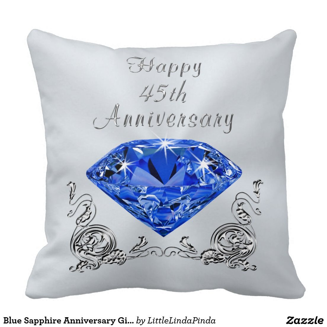 Blue Sapphire Anniversary Gifts, 45th Anniversary Throw