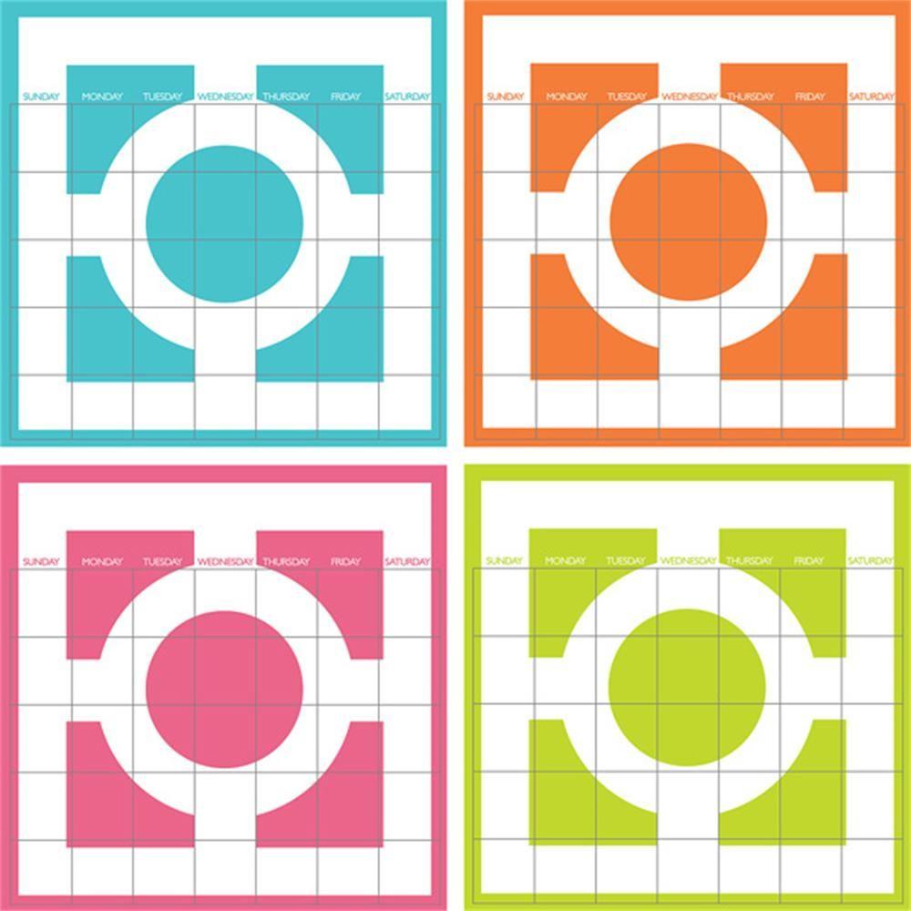 Chroma 4 Piece Calendar Decal Set - $20.99