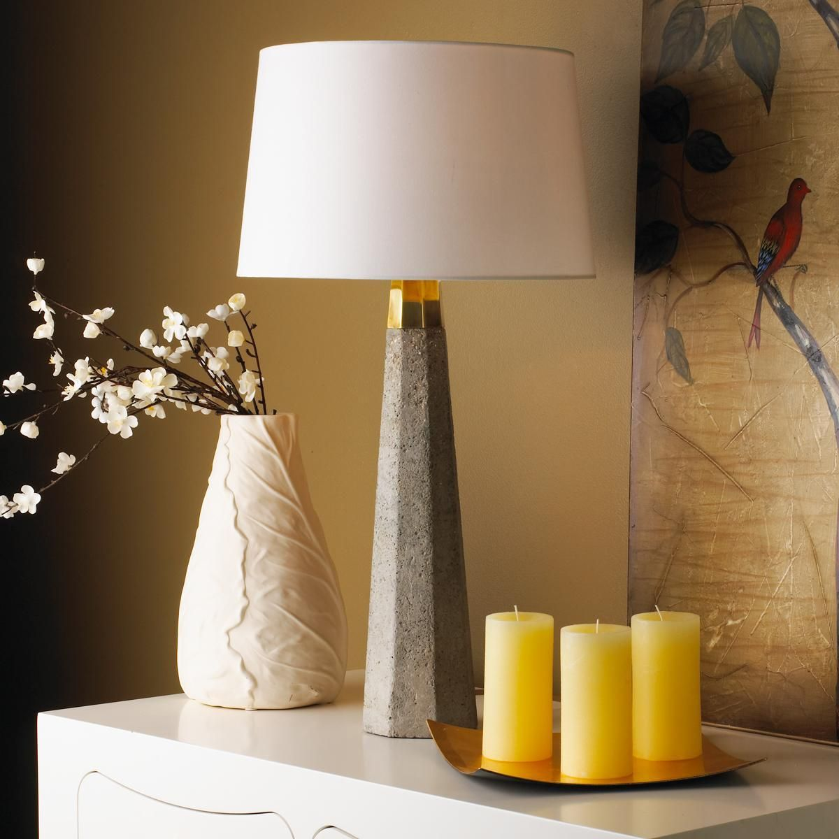 Concrete Column Table Lamp Concrete Column Table