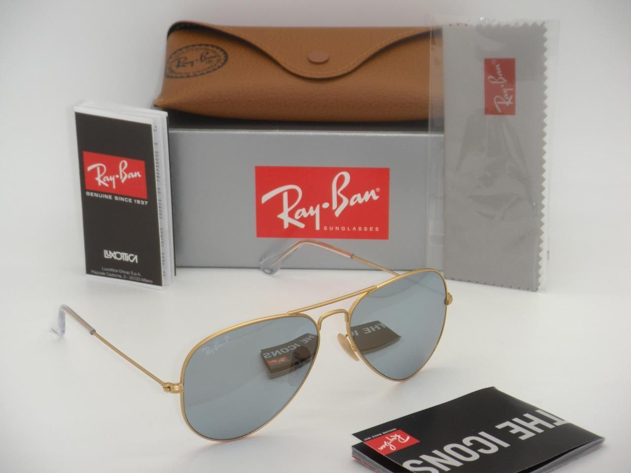 d0a5b361d1 Ray-Ban Aviator RB 3025 112 W3 58mm Matte Gold Polarized Silver Mirror
