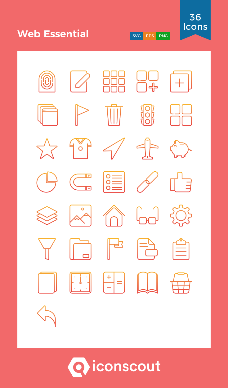 Download Download Web Essential Icon pack - Available in SVG, PNG ...