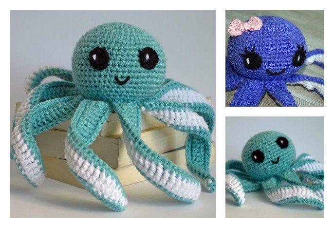 Amigurumi Octopus Baby Toy Free Crochet Pattern   Octopus