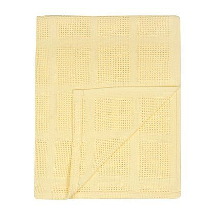 George Home Cellular Shawl In Lemon Baby George At Asda With