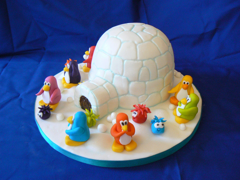 Club Penguin Igloo | Kids Cakes | Pinterest | Bolos