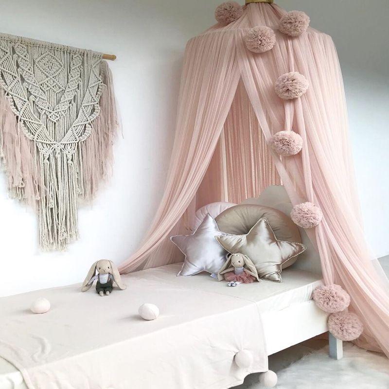 nordic style kids room decoration mosquito net chiffon ball rh pinterest ca