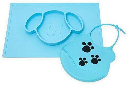 Baby silicone placemat that comes with a matching bib ...