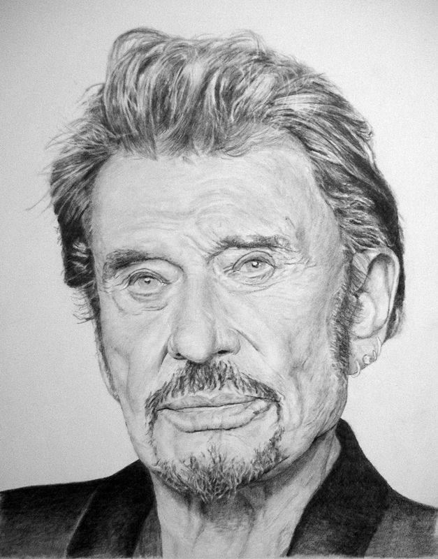 johnny hallyday mes portraits en noir et blanc pinterest johnny hallyday portraits et dessin. Black Bedroom Furniture Sets. Home Design Ideas