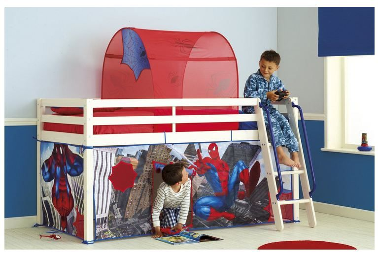 Spiderman Mid Sleeper Tent Pack Transform your mid sleeper bed with this fantastic Spider-Man Tent. & Spiderman Mid Sleeper Tent On Sale | Find Your Brands | Kids ...