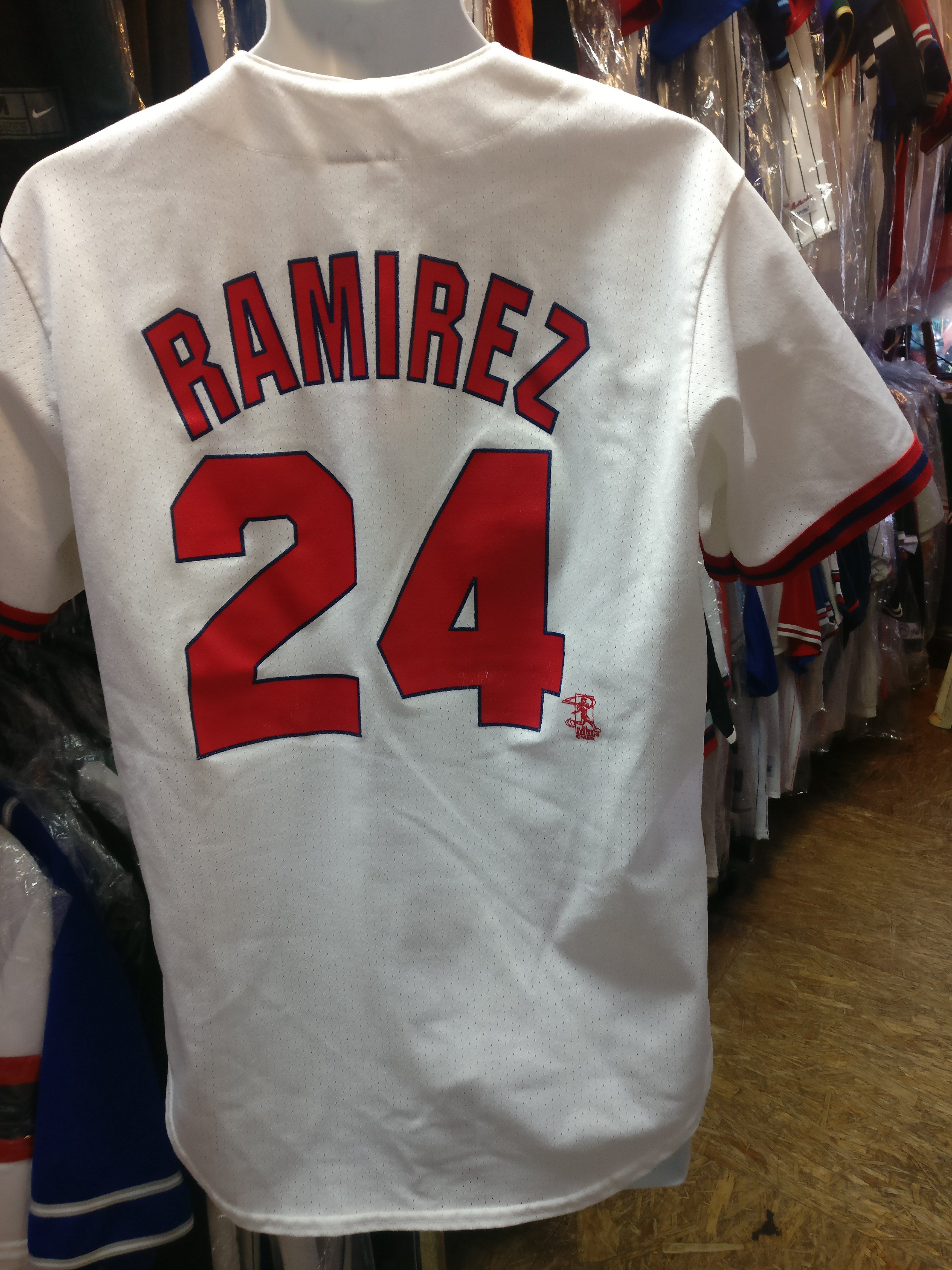 newest 74139 1b154 Vintage #24 MANNY RAMIREZ Boston Red Sox MLB Majestic Jersey ...