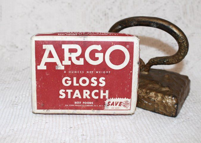 Argo Gloss Starch Laundry Advertising Product Sold Vintage