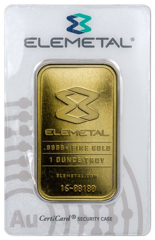 Elemetal Mint 1 Troy Oz 9999 Fine Gold Bar Made In Usa Sku39543 With Images Gold Bar Gold Mint